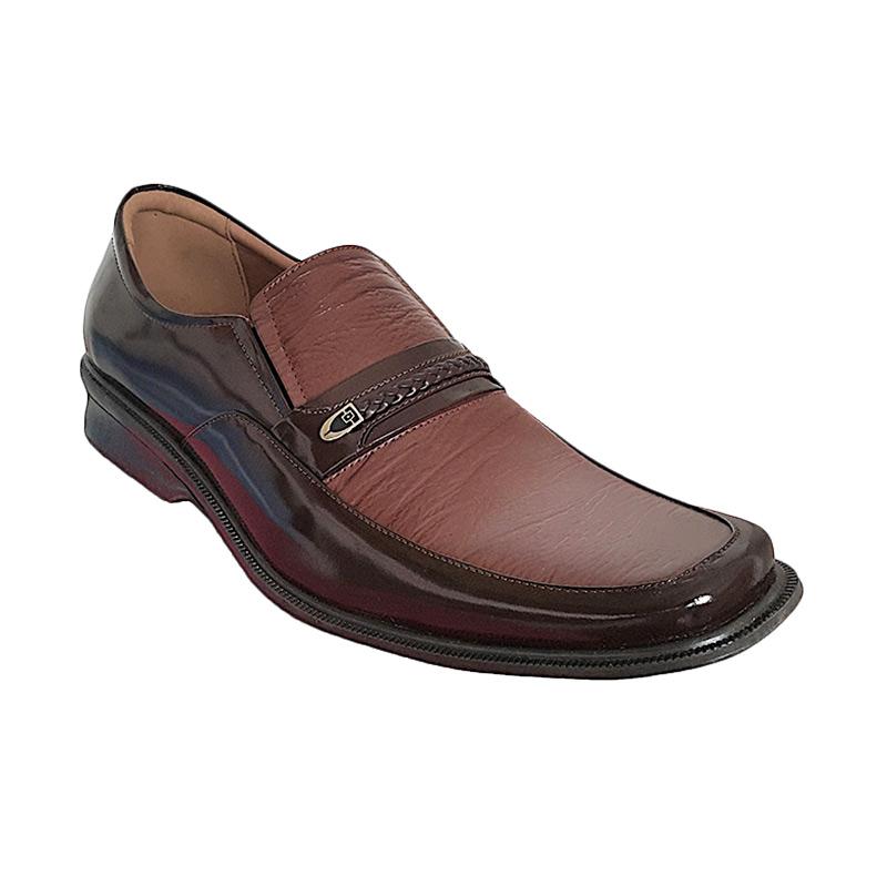 Handymen HK lak 816 Brown Sepatu Pria