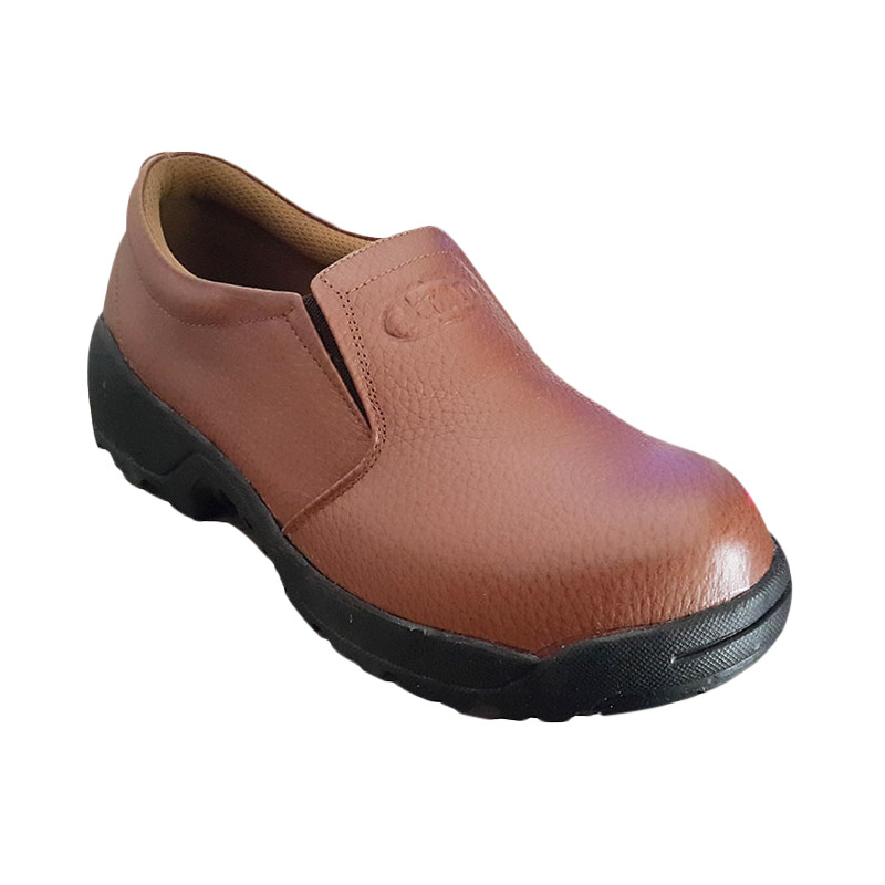 Handymen SF 01 Genuine Leather Dress Safety Shoes Sepatu Pria - Tan