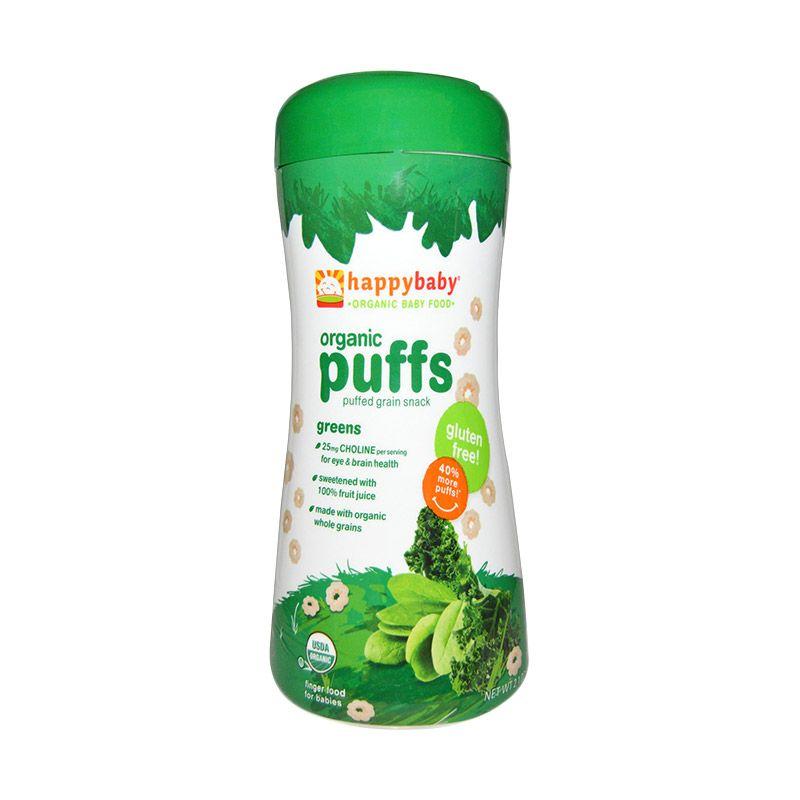Happy Baby Organic Puffs Greens Makanan Bayi