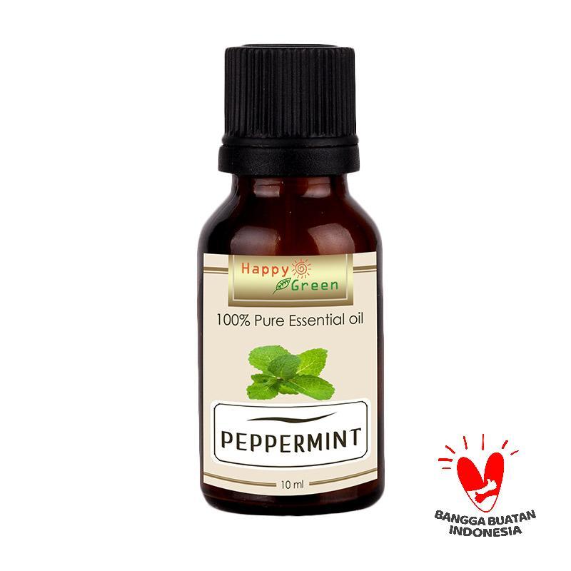 HAPPY GREEN Peppermint Essential Oil Minyak Mint [10 mL]