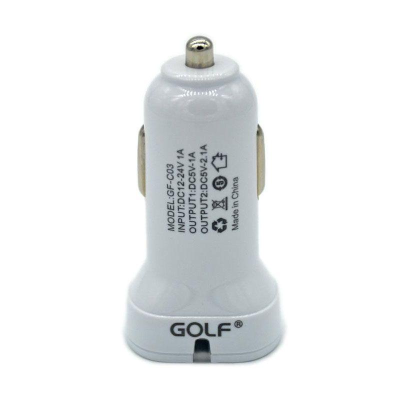 Golf 2 Port USB Car Charger [2.1 A dan 1 A]
