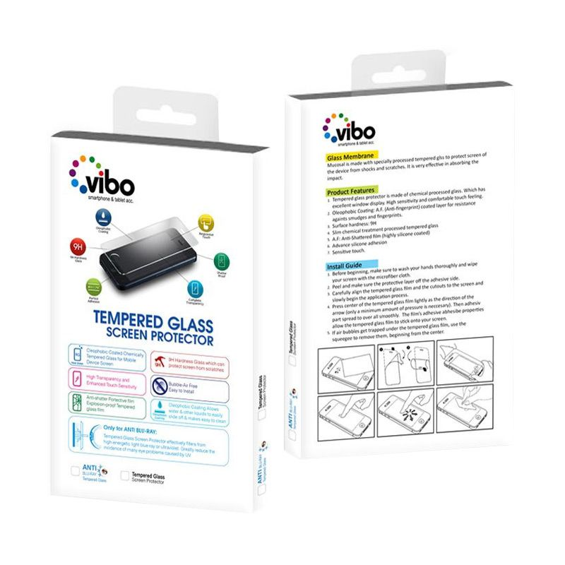 VIBO Tempered Glass Screen Protector for iPhone 4 or 4s