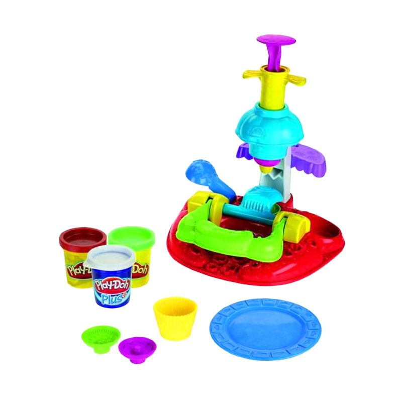 Play Doh Sweet Shoppe Flip 'N Frost Cookies Set Mainan Anak