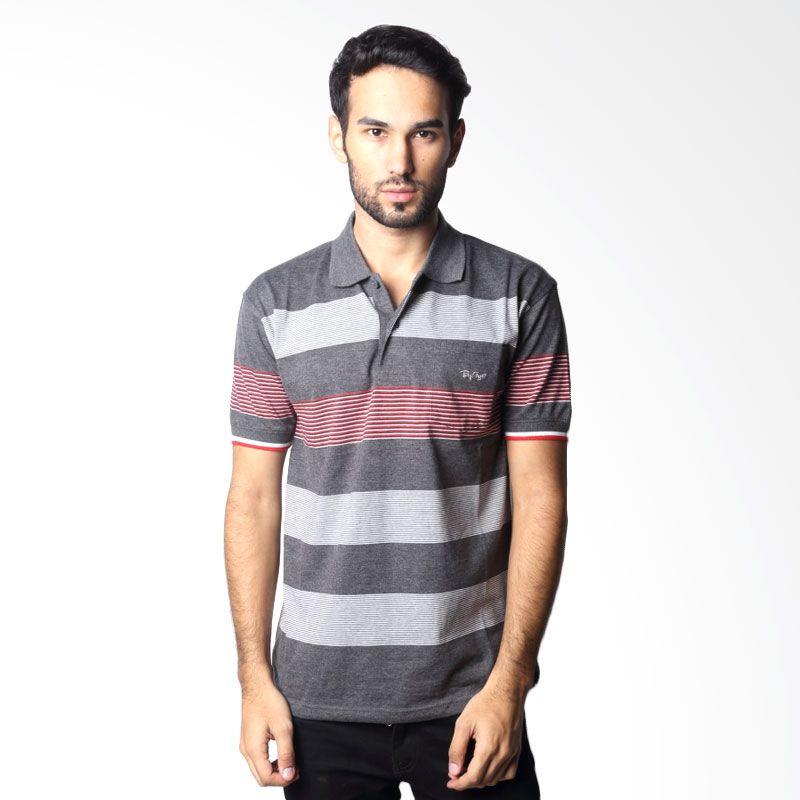BYTAGO Stripe Short Sleeve 112 Black Polo Shirt