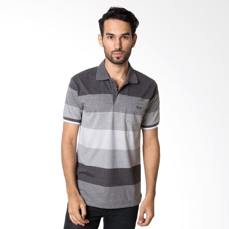 Bytago Stripe 114 Black Polo Shirt