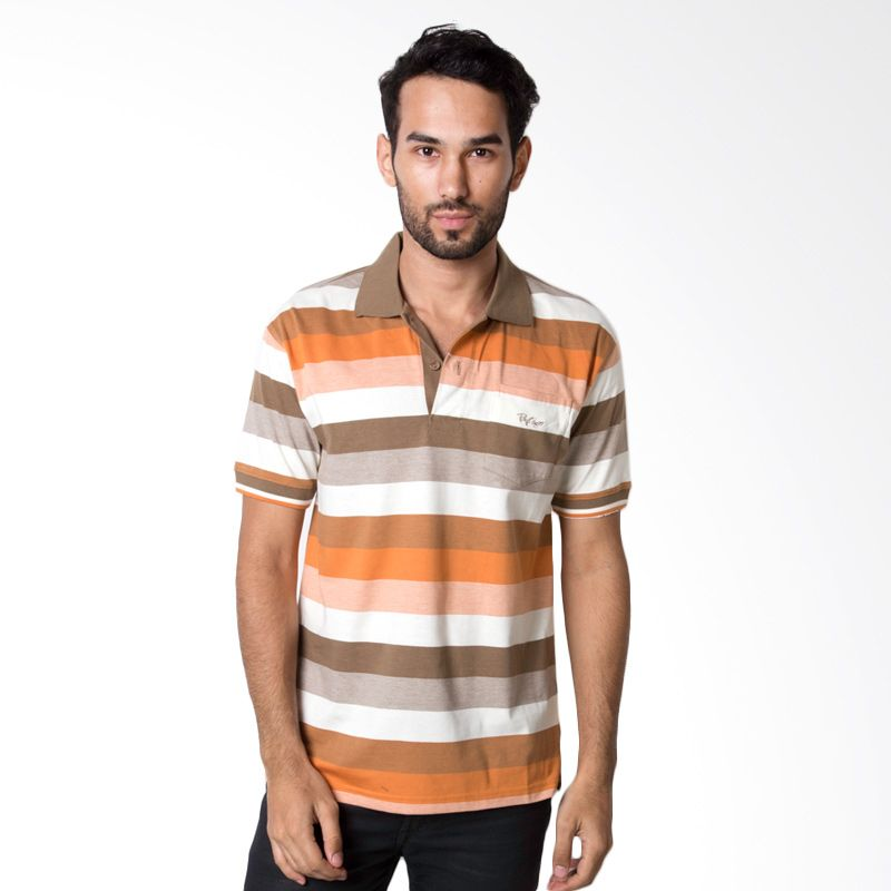 Bytago Stripe 123 Brown Polo Shirt