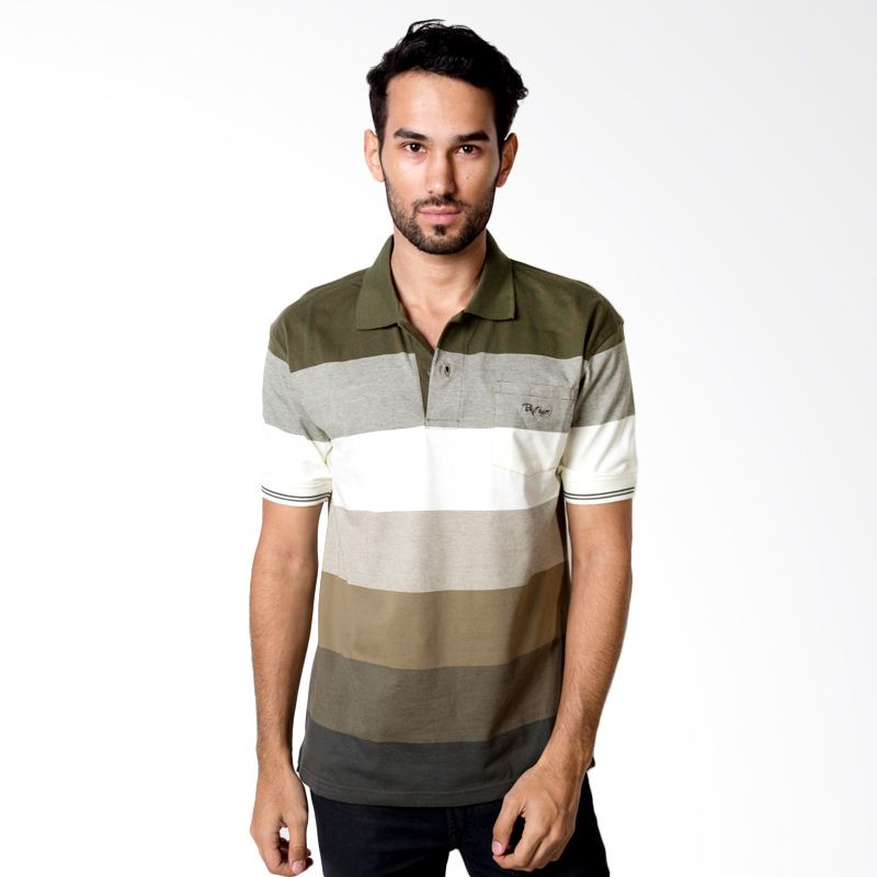 Bytago Stripe 128 Green Polo Shirt