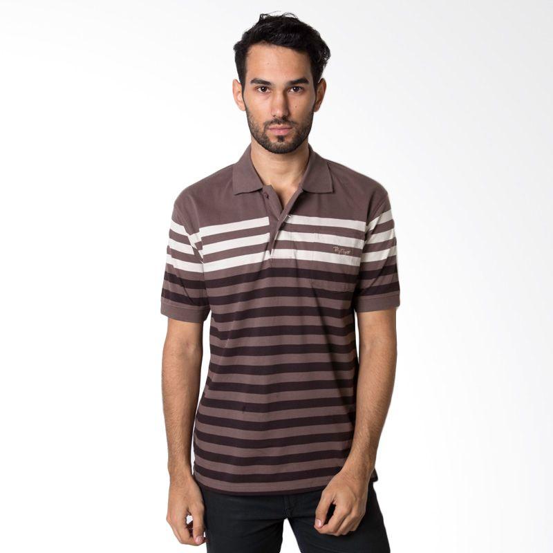 Bytago Stripe 138 Brown Polo Shirt