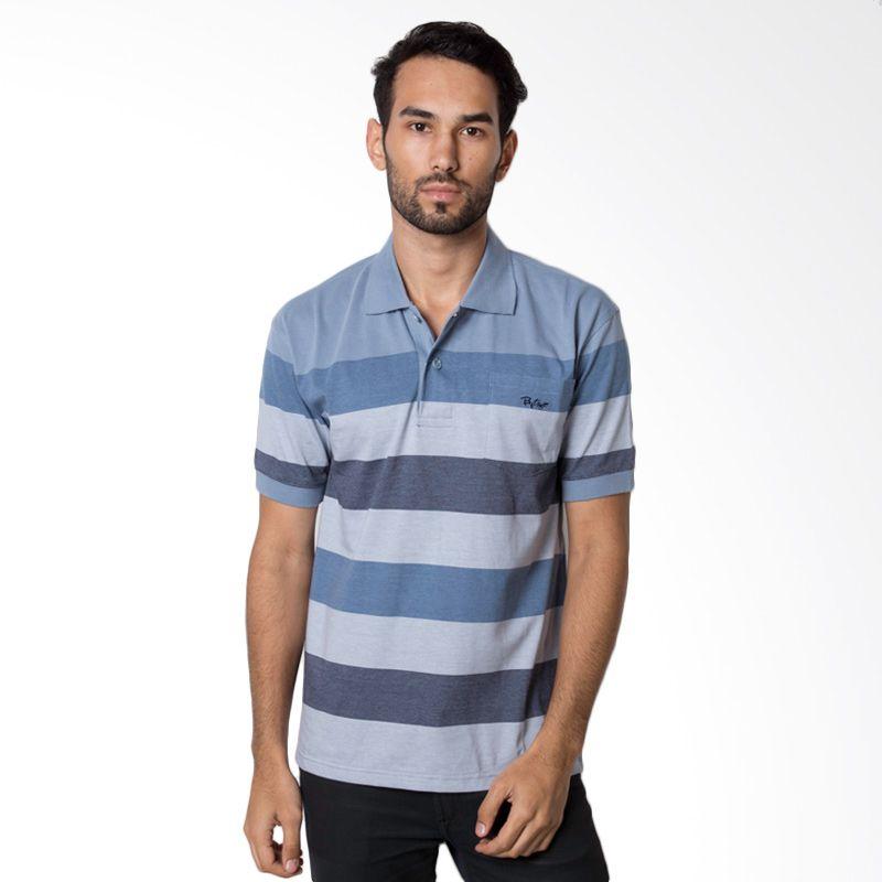 Bytago Stripe Short Sleeve 159 Grey Polo Shirt