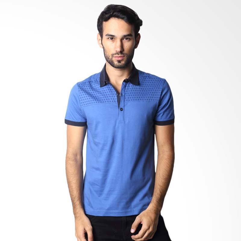 Hassenda Man 500B Plane Blue Polo Shirt