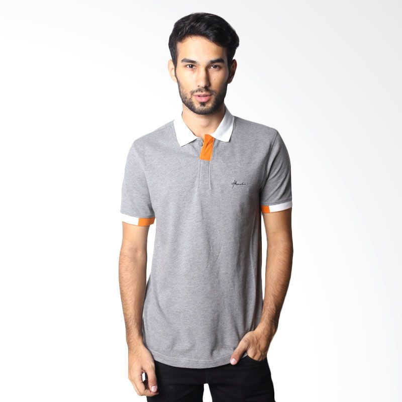Hassenda Man Plane Grey Polo Shirt