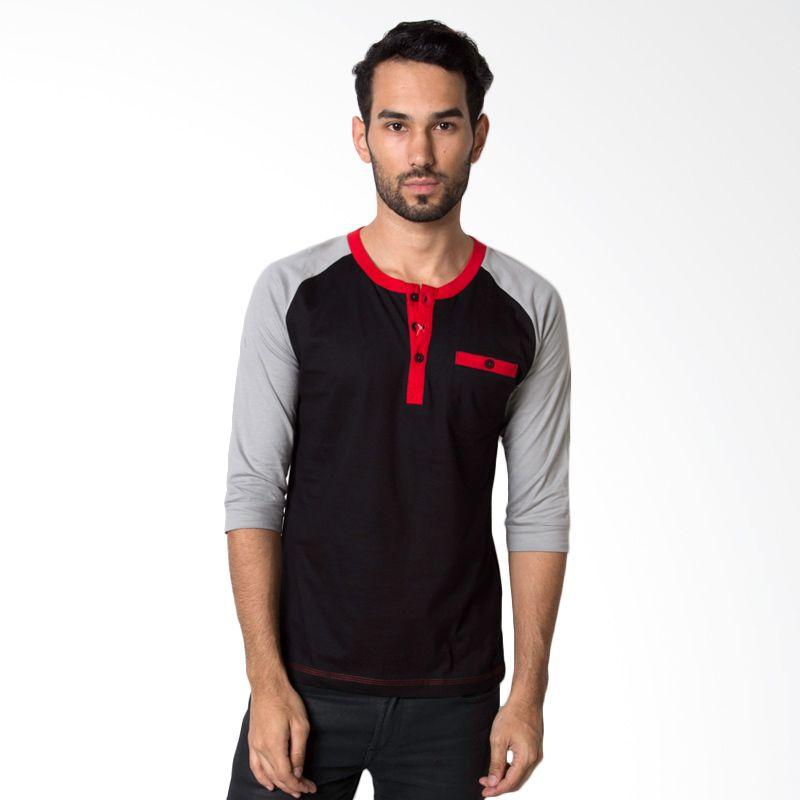 OTO ONO 505A Black T-Shirt Pria