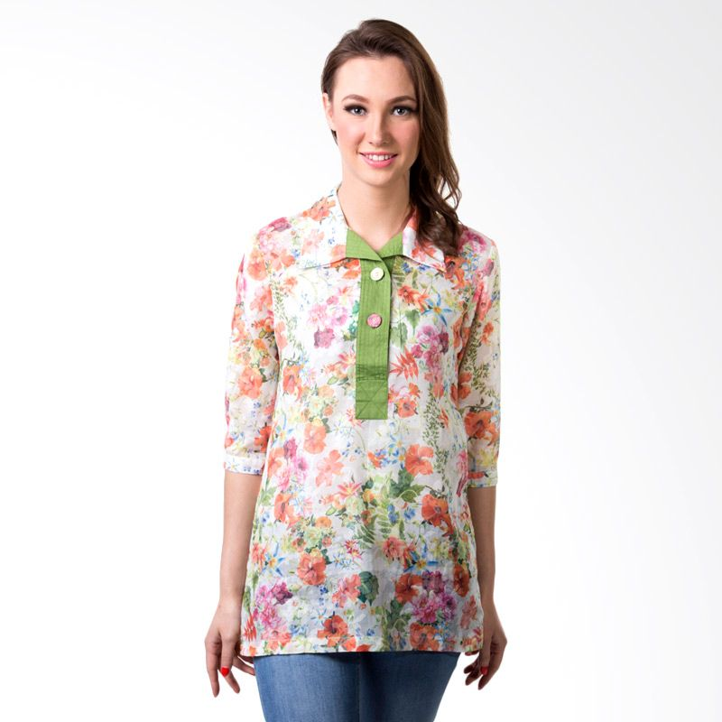 Puricia Ladies 363 Green Blouse