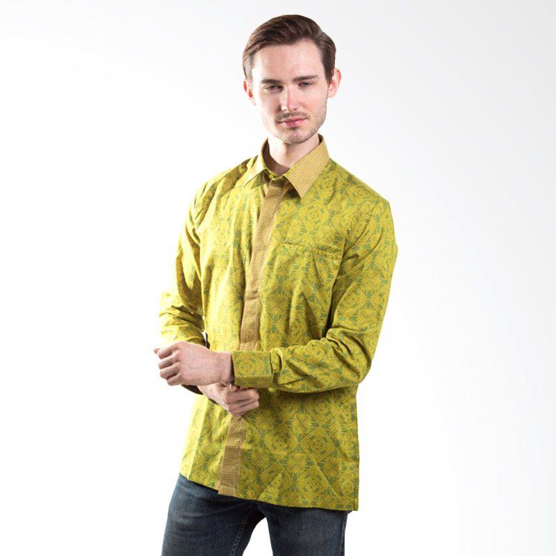Semata Wayang Shirt 568 Green Batik Pria