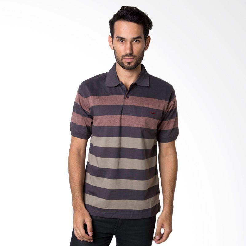 VERENZO Man Stripe 334 Black Kaos Polo