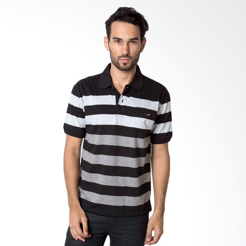 VERENZO Man Stripe 334A Grey Kaos Polo