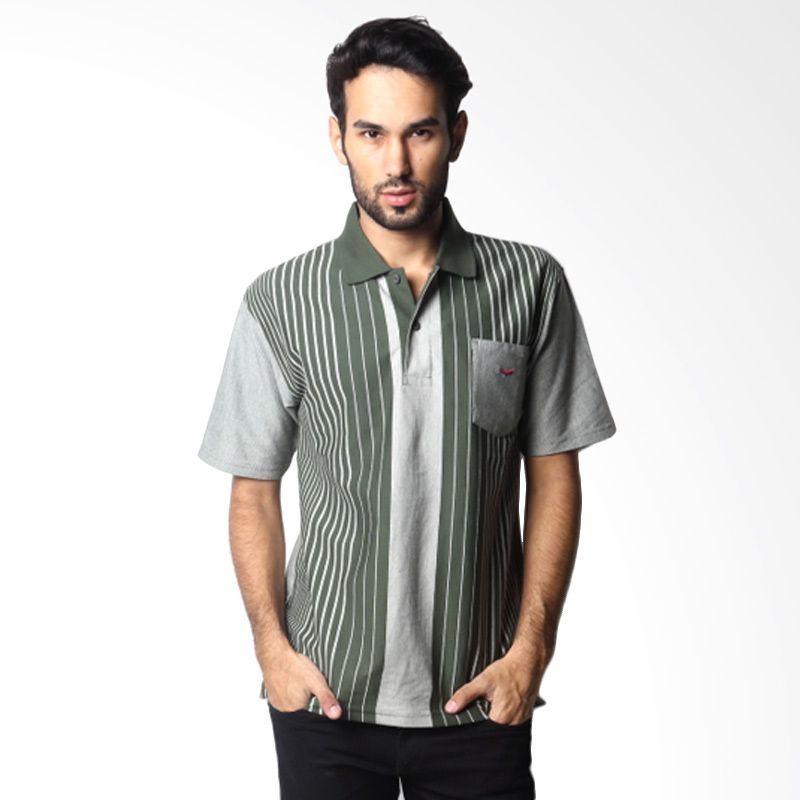 Verenzo Stripe Short Sleeve 087 Green Polo Shirt