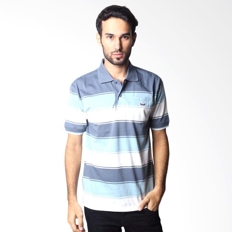 Verenzo Stripe Short Sleeve 090A Grey Polo Shirt