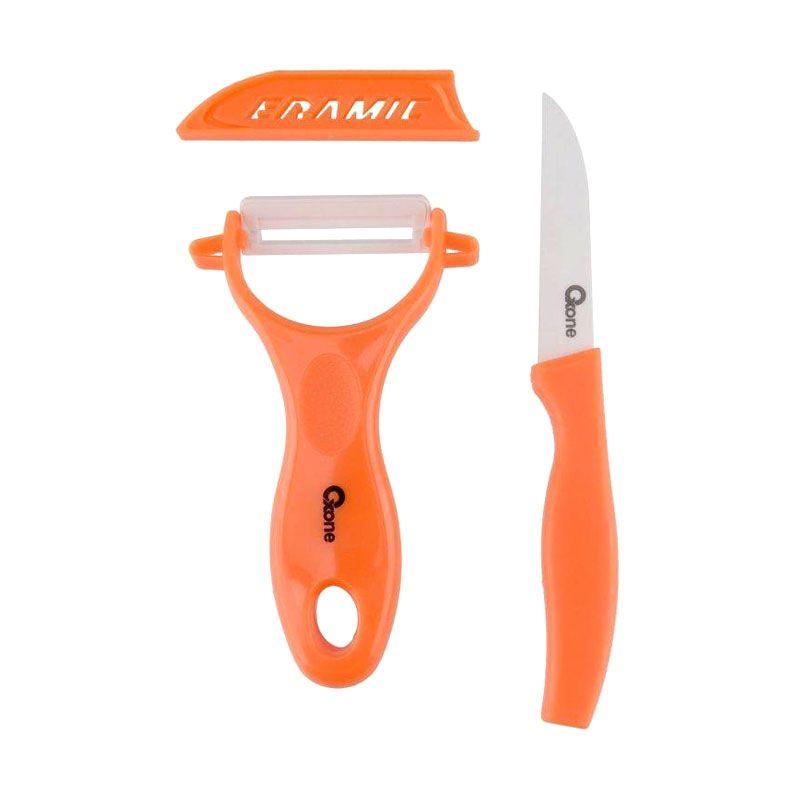 Oxone OX-928 2 Pcs Ceramic Knife Set Orange