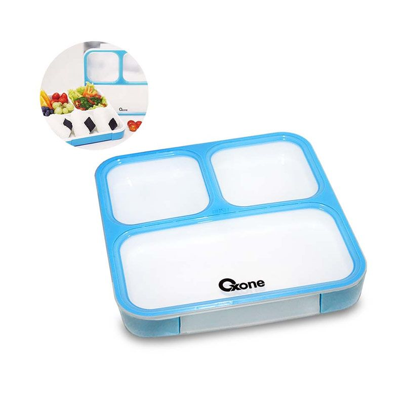 Oxone OX-067 Classic Bento with Thermal Bag Biru Kotak Makan