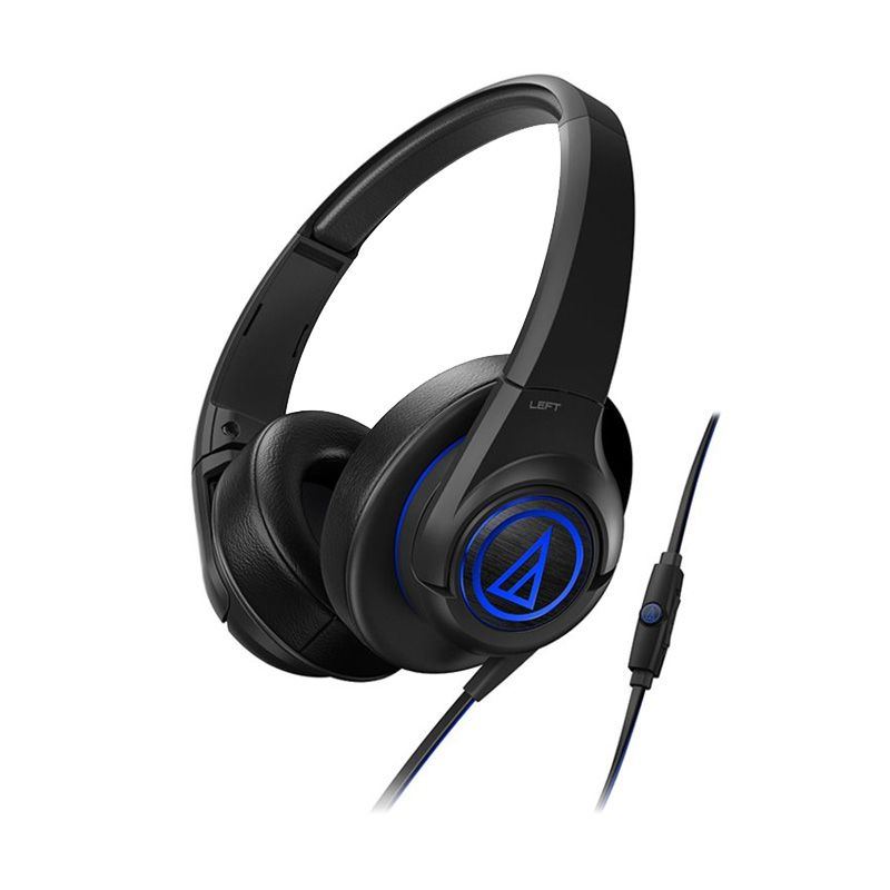 Audio Technica SonicFuel Over-Ear ATH-AX5iS Hitam Headset