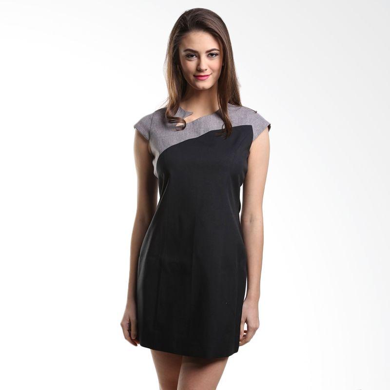 Heart And Feel Adessa 1017.D Black Dress Wanita