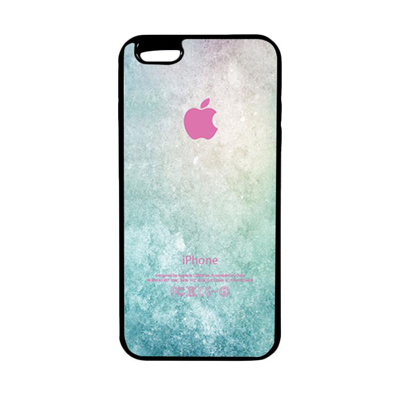 HEAVENCASE Apple 01 Hitam Softcase Casing for iPhone 6 Plus or iPhone 6s Plus