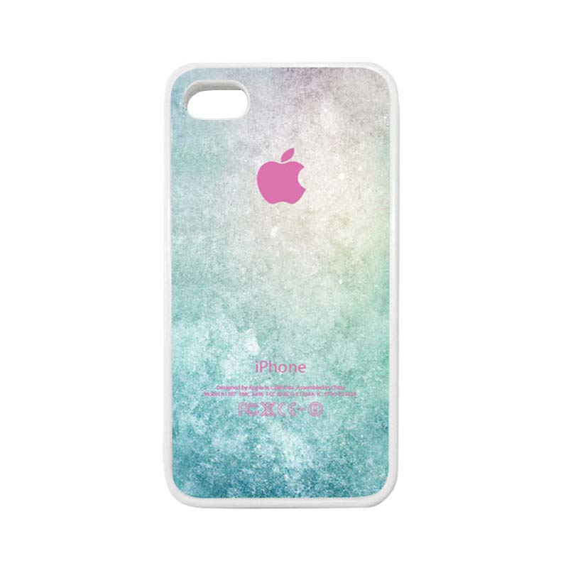 HEAVENCASE Apple 01 Putih Casing for iPhone 4 or iPhone 4S