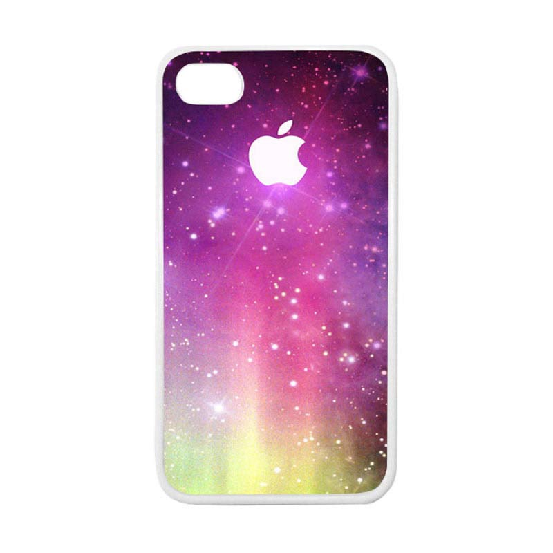 HEAVENCASE Apple 02 Putih Casing for iPhone 4 or iPhone 4S