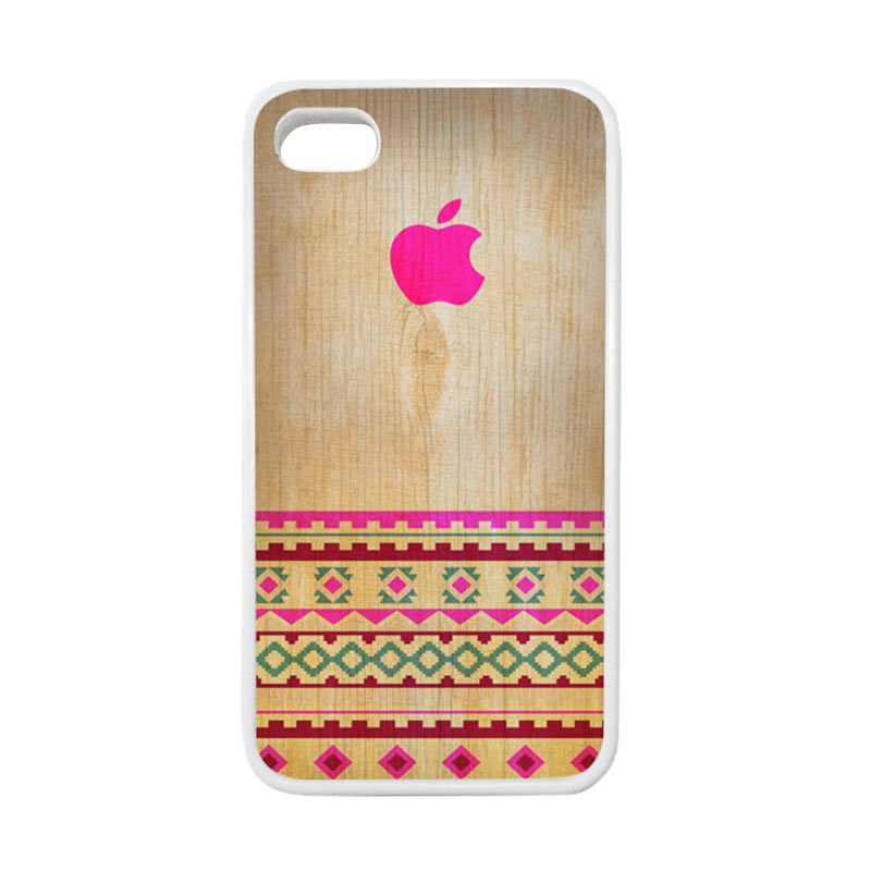 HEAVENCASE Apple 03 Putih Casing for iPhone 4 or iPhone 4S