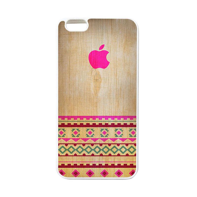 HEAVENCASE Apple 03 Putih Softcase Casing for iPhone 6 Plus And iPhone 6s Plus