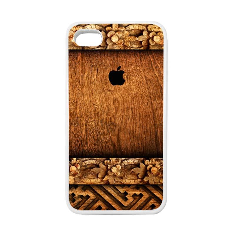 HEAVENCASE Apple 04 Putih Casing for iPhone 4 or iPhone 4S