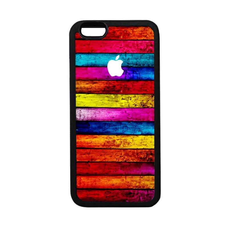 HEAVENCASE Apple 05 Black Softcase Casing for iPhone 6 Plus or iPhone 6s Plus