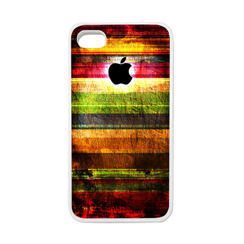 HEAVENCASE Apple 06 Putih Softcase Casing for iPhone 4 or iPhone 4s