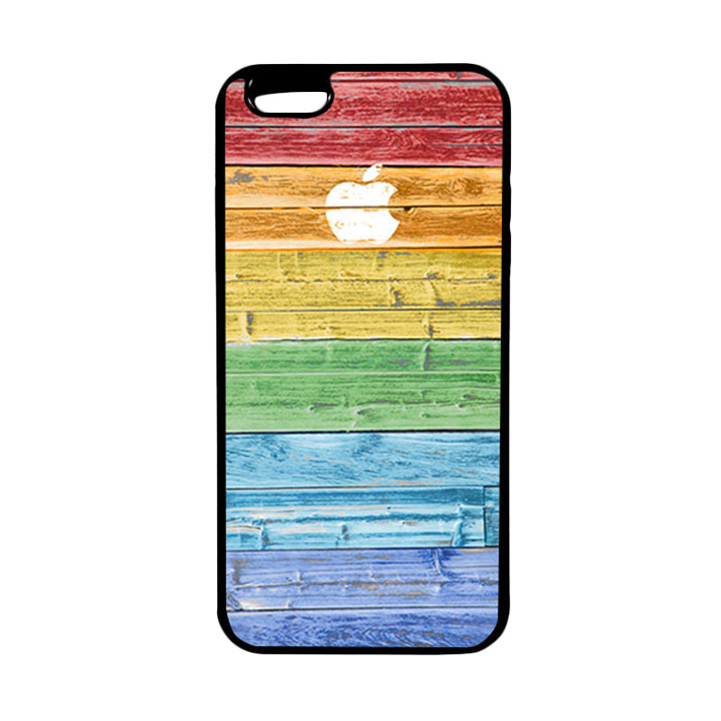 HEAVENCASE Apple 07 Hitam Softcase Casing for iPhone 6 Plus And iPhone 6s Plus