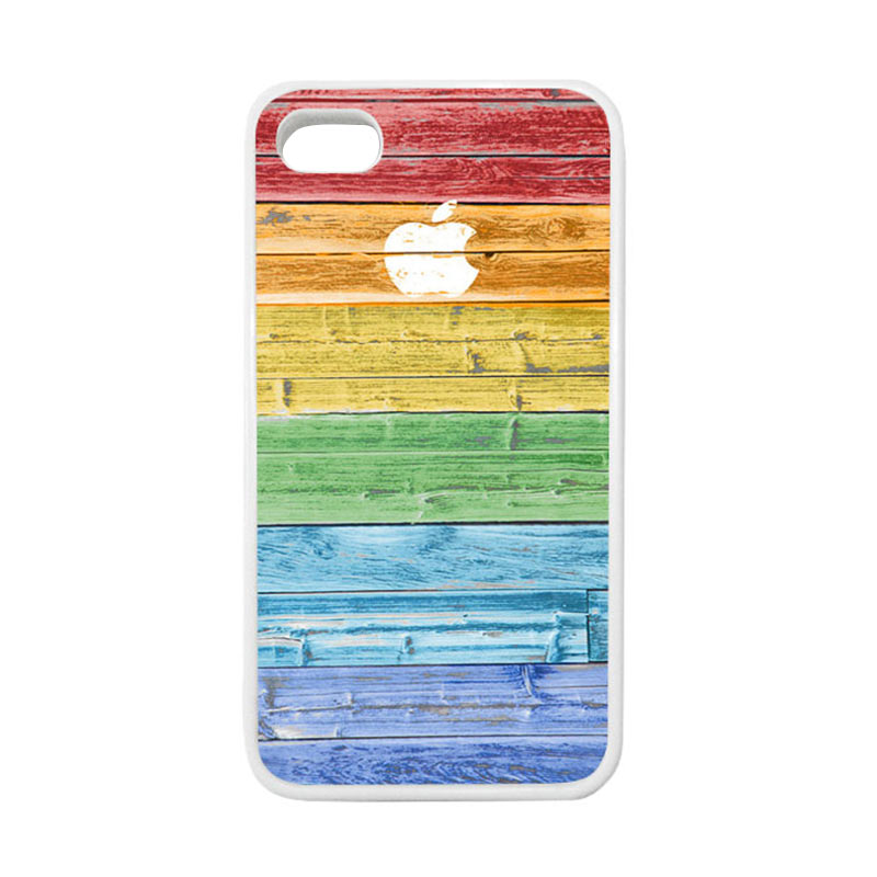 HEAVENCASE Apple 07 Putih Softcase Casing for iPhone 4 or iPhone 4s