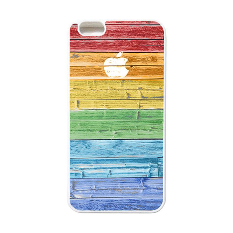HEAVENCASE Apple 07 Putih Softcase Casing for iPhone 6 Plus or iPhone 6s Plus