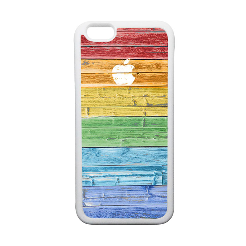 HEAVENCASE Apple 07 TPU Bumper Putih Softcase Casing for iPhone 6 or iPhone 6S
