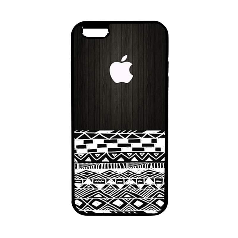 HEAVENCASE Apple 17 Hitam Casing for iPhone 6 Plus or iPhone 6s Plus