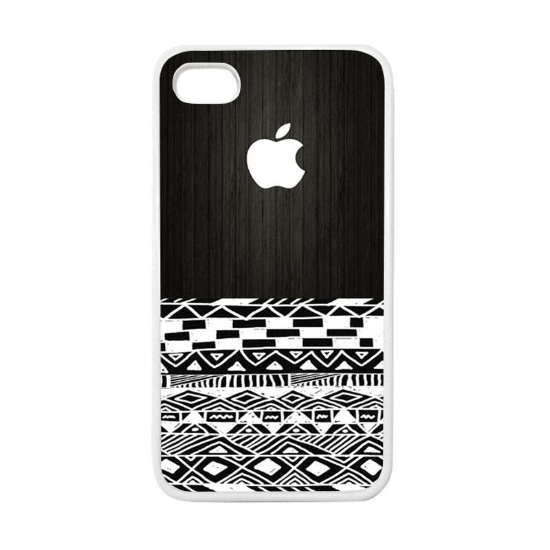 HEAVENCASE Apple 17 Putih Softcase Casing for iPhone 4 or iPhone 4s