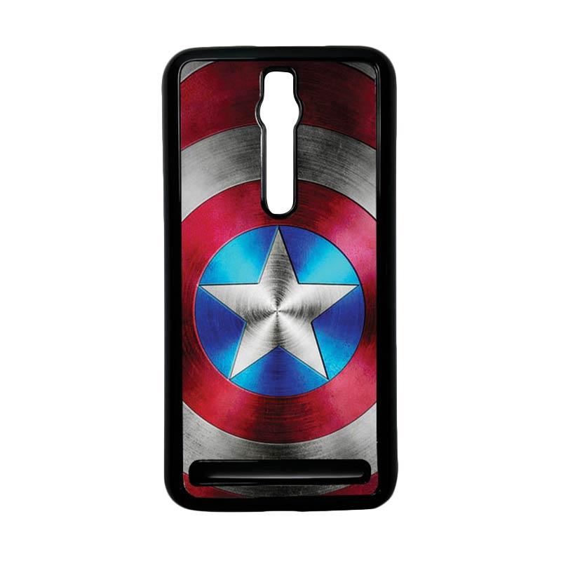 Heavencase Captain America 01 Hardcase Casing for Asus Zenfone 2 ZE551ML or ZE550ML - Hitam