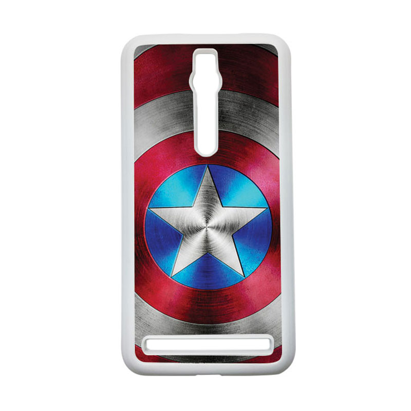 HEAVENCASE Captain America 01 Hardcase Casing for Asus Zenfone 2 ZE551ML or ZE550ML - Putih
