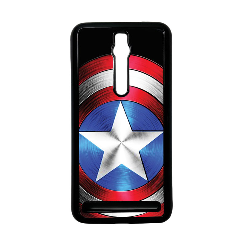 Heavencase Captain America 02 Hardcase Casing for Asus Zenfone 2 ZE551ML or ZE550ML - Hitam