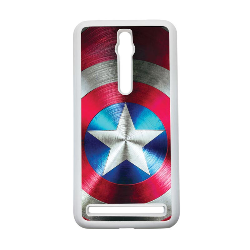 HEAVENCASE Captain America 03 Hardcase Casing for Asus Zenfone 2 ZE551ML or ZE550ML - Putih