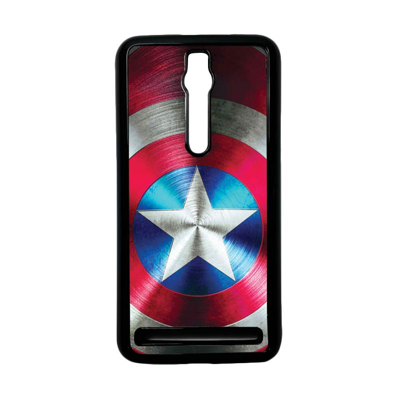 Heavencase Captain America 03 Hardcase Casing for Asus Zenfone 2 ZE551ML or ZE550ML - Hitam