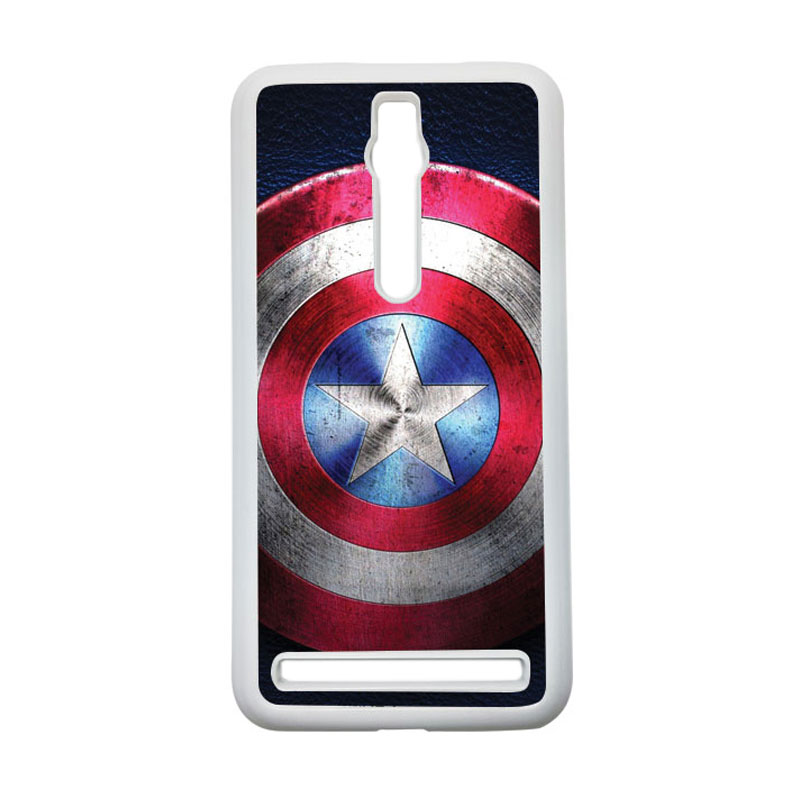 HEAVENCASE Captain America 04 Hardcase Casing for Asus Zenfone 2 Ze551ml or Ze550ml - Putih