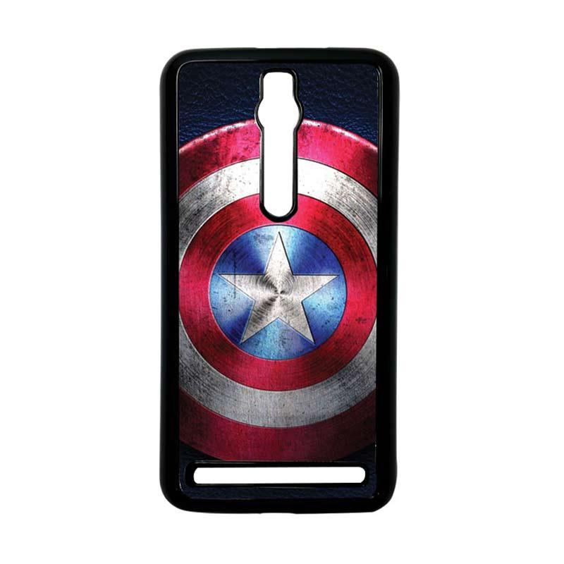 Heavencase Captain America 04 Hitam Hardcase Casing for Asus Zenfone 2 Ze551ml or Ze550ml