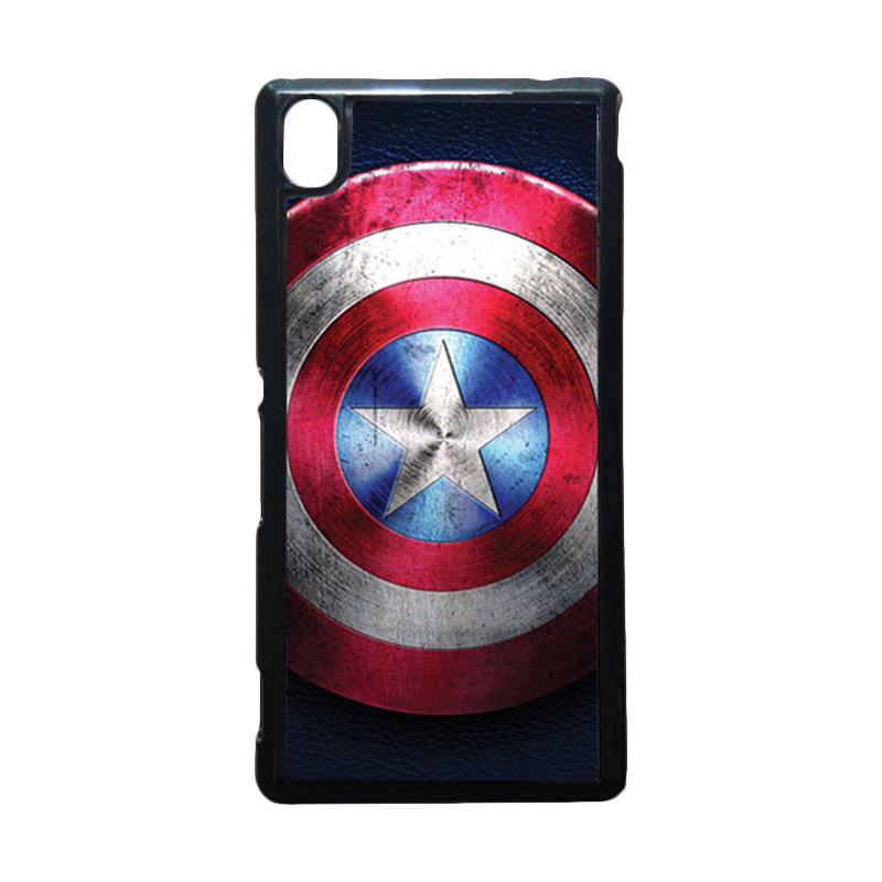HEAVENCASE Captain America 04 Hitam Hardcase Casing for Sony Xperia M4 Aqua