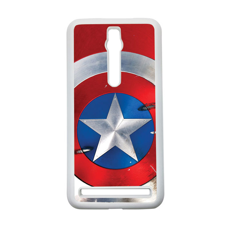 HEAVENCASE Captain America 05 Hardcase Casing for Asus Zenfone 2 Ze551ml or Ze550ml - Putih