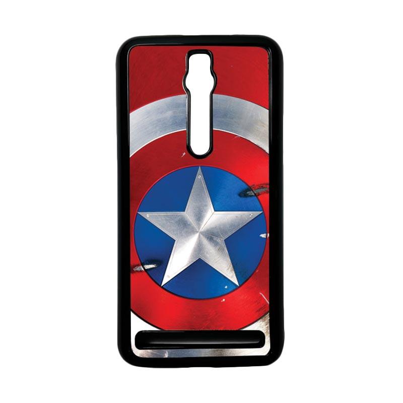 Heavencase Captain America 05 Hardcase Casing for Asus Zenfone 2 ZE551ML or ZE550ML - Hitam